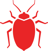 red bed bug icon