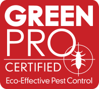 green pro certified eco-effective pest control red icon