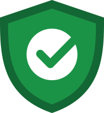 guaranteed safe pest treatment green icon